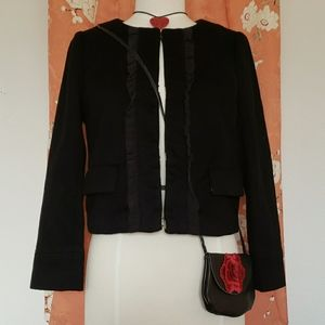 Juicy Couture Crop Ruffle Bolero Jacket Medium